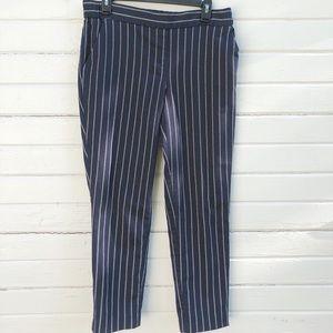 Cynthia Rowley Navy & White Striped Pants Size 10